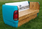 Chevrolot Truck Taligate Wooden Bench