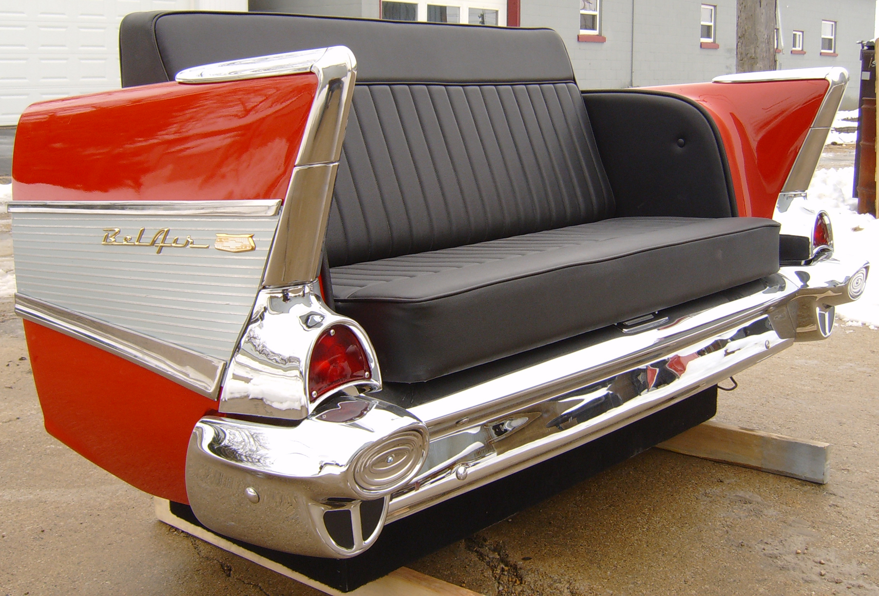 new retro cars : restored classic car furniture and decor