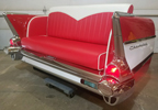 57 Chevy 210 Rear End Couch with White Chevron Headroll