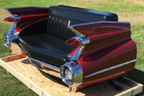 1959 Cadillac Rear Facing Car Couch for Sale