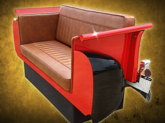 New Retro Cars : Restored Classic Car Couches, Sofas and ...