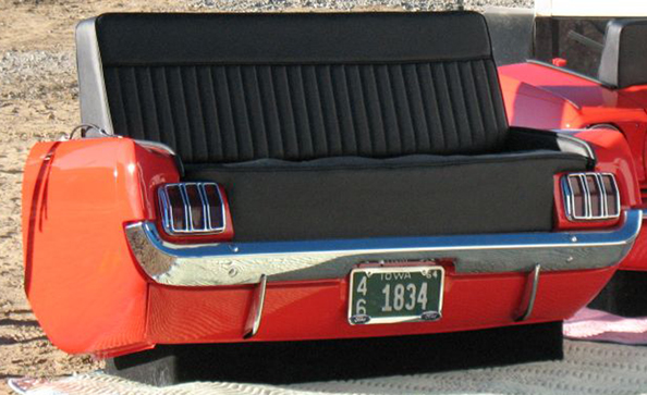 Flash Sale 1965 Ford Mustang Rear End Car Couch